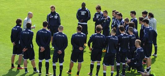 Italien bereitet sich auf das Länderspiel gegen Deutschland vor (Foto: http://www.figc.it/)
