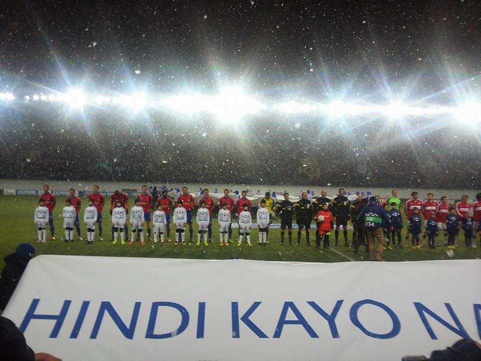 Verschwindet der Maulwurf im Schneetreiben der Khimki-Arena...? (Foto: facebook)