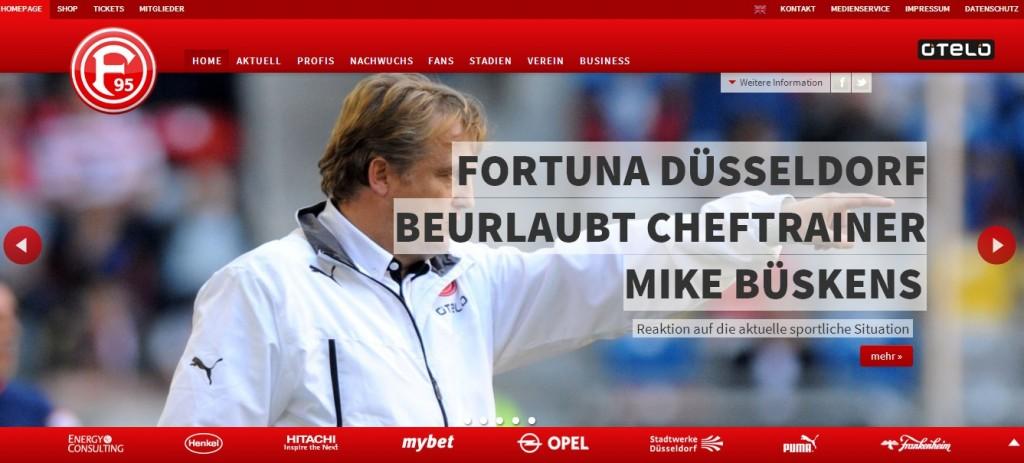 Fortunas Homepage verkündet: Aus für Trainer Mike Büskens!