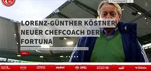 Lorenz-Günther Köstner neuer Trainer bei Fortuna Düsseldorf! (Foto: Screenshot http://www.f95.de/)