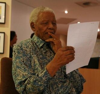 Nelson Mandela im Nelson Mandela Centre of Memory (Foto: facebook)