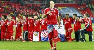 Arjen Robben nach dem gewonnenen Champions-League-Finale (Foto: Facebook)
