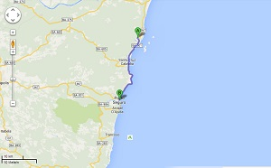 Santo André im Osten Brasiliens (Foto: google maps)