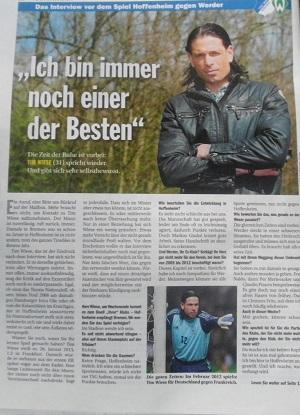 "Interview im ""kicker"": Tim Wiese plant Comeback"