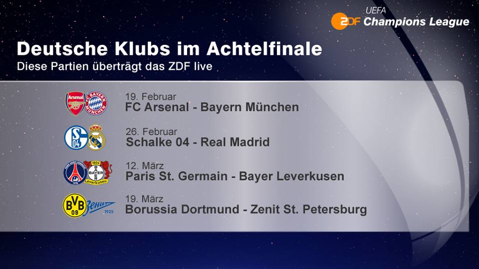 ZDF zeigt alle deutschen Teams
