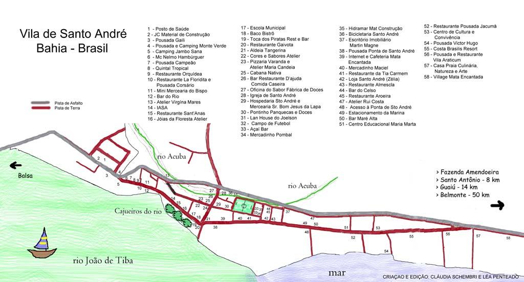 Stadtplan von Santo André