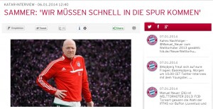 Sammer-Interview auf fcbayern.de (Screenshot: fcbayern.de/)