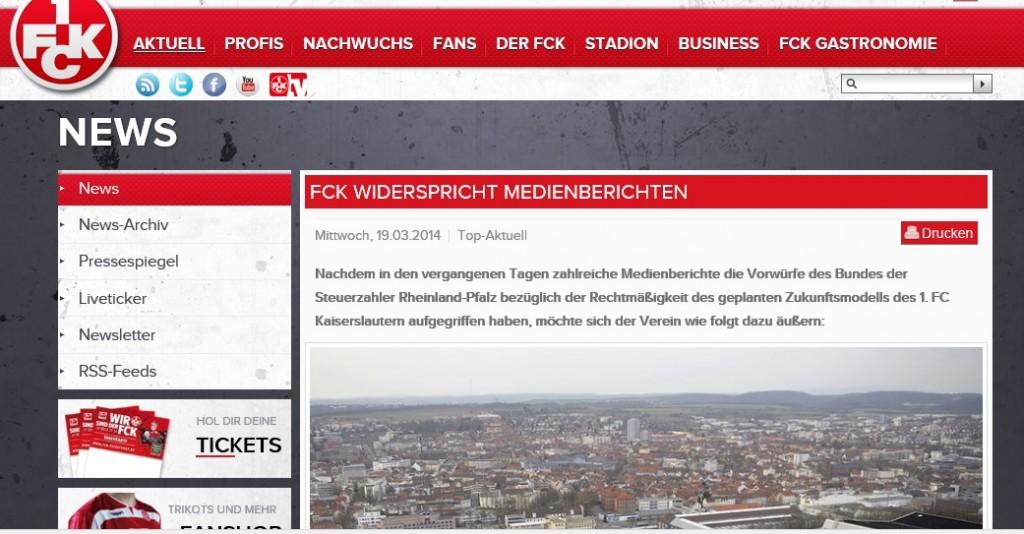 1.FC Kaiserslautern: Ärger mit dem Bund der Steuerzahler