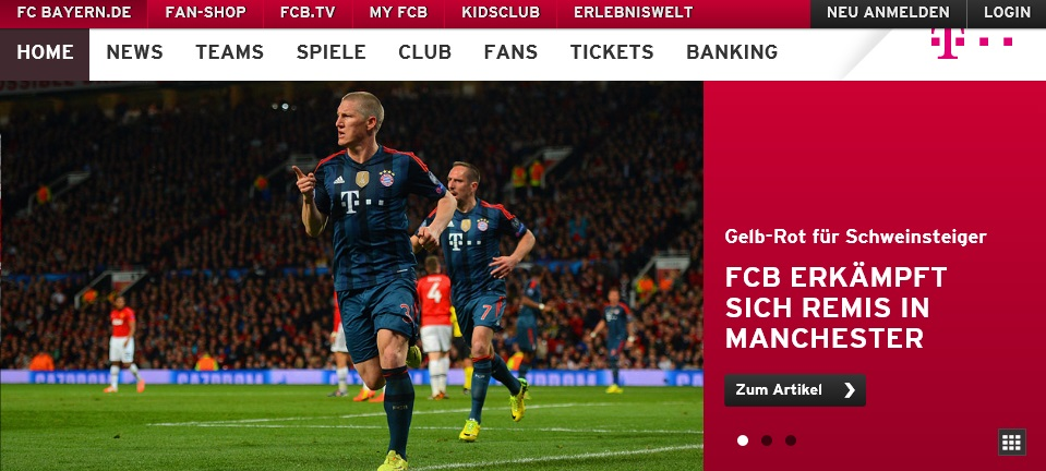 Bastian Schweinsteiger: Tor und Platzverweis! (Foto: Screenshot fcbayern.de)