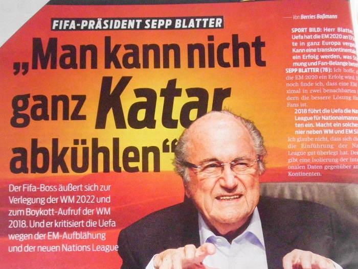 Sport Bild Interview mit Sepp Blatter
