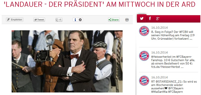 Bayerns vergessener Präsident Karl Landauer (Screenshot: fcbayern.de)