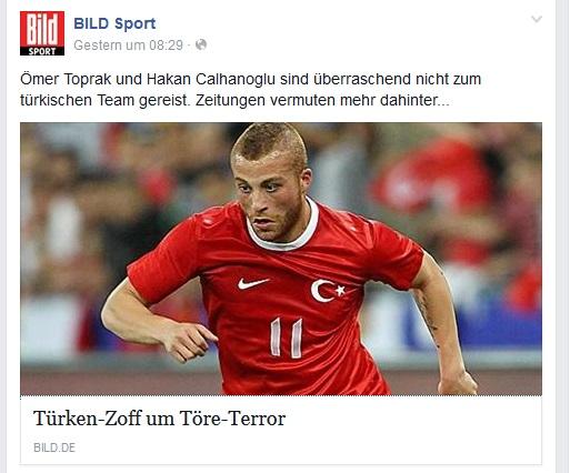 """Die Bild-Zeitung titelte """"Türken-Zoff um Töre-Terror"""""""